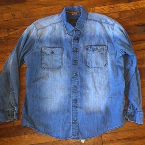 J L Powell denim shirt jean USA XXL men's sporting